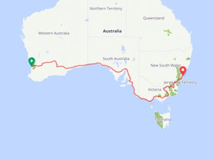 Paweł Puławski na Indian Pacific Wheel Ride 2018 crowdsourcing